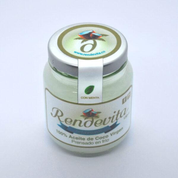 Aceite de Coco Virgen Prensado en frio y menta Rendevita 130 ml